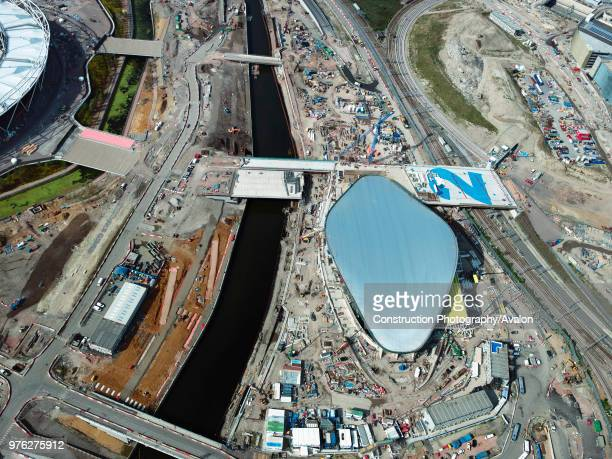 Aerial view of the Olympic site London UK UK