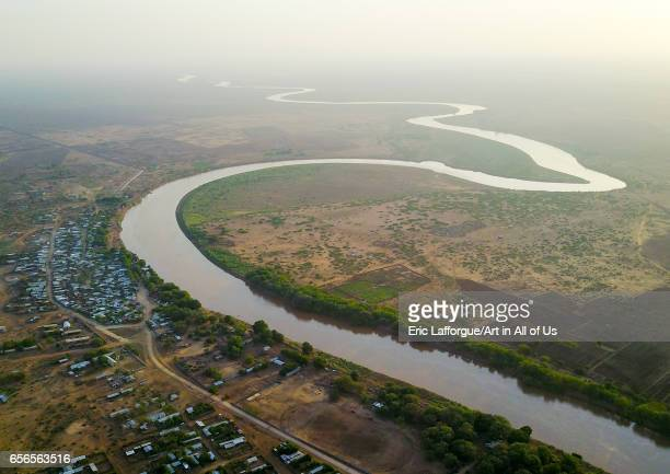Aerial view of the Omo river Omo Valley Omorate Ethiopia on March 8 2017 in Omorate Ethiopia