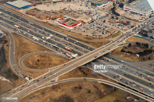aerial view of the ontario, canada. - mississauga stock pictures, royalty-free photos & images