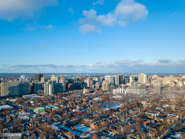 luftaufnahme von ottawa, winter, schnee - ottawa stock-fotos und bilder