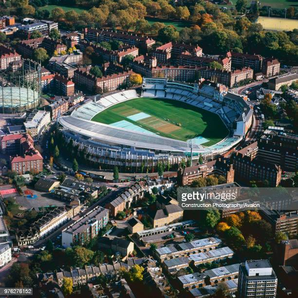Aerial view of the Oval Cricket Ground, London, UK.