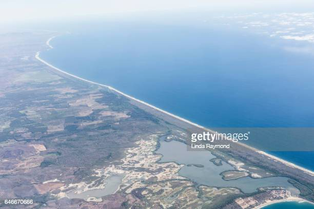 aerial view of the pacific coast of mexico - ゲレーロ州 ストックフォトと画像
