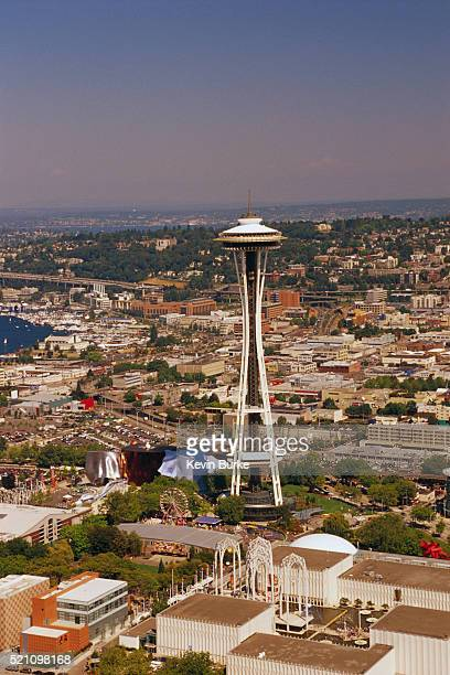Aerial View of the Pacific Science Center and Space Needle