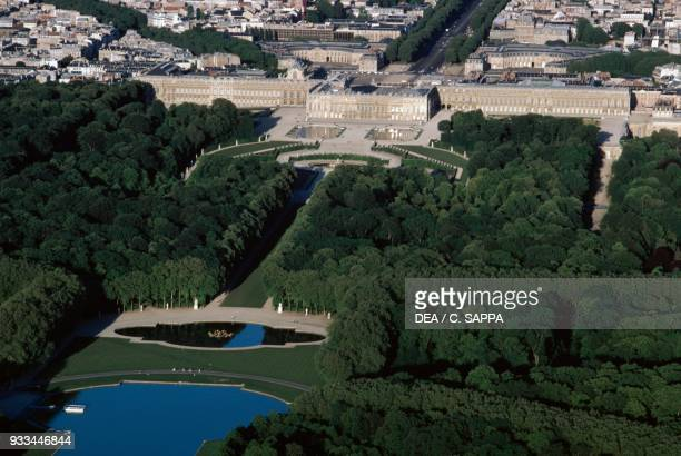 Aerial view of the Palace of Versailles IledeFrance France 18th century