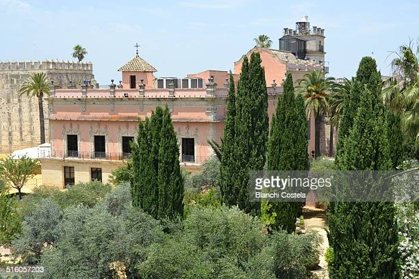 Aerial view of the Palace of Villavicencio in the