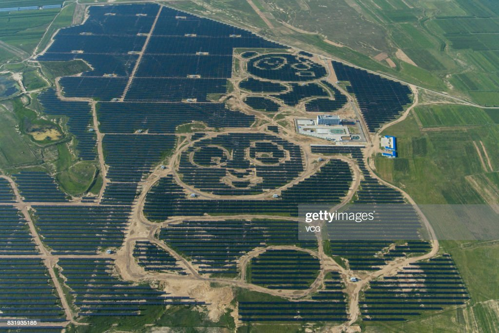 Panda Solar Station Starts Operations In Datong : News Photo