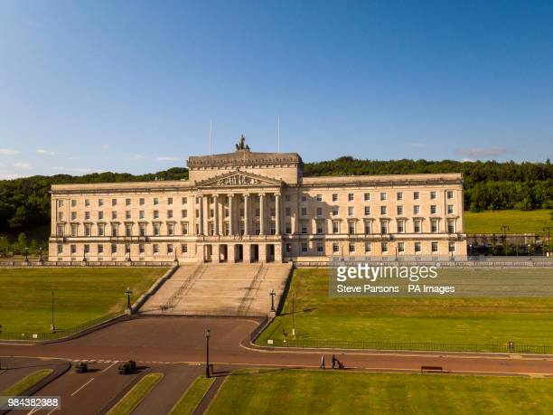 Aerial view of the Parliament Buildings at Stormont in Belfast