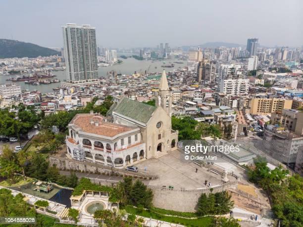 Aerial view of the Penha church in Macau