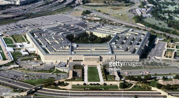Aerial view of the Pentagon building photographed on Sept 24 2017