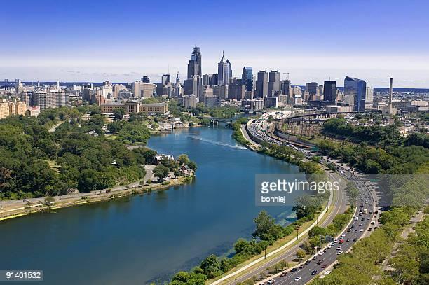 Luftbild von der Skyline von Philadelphia