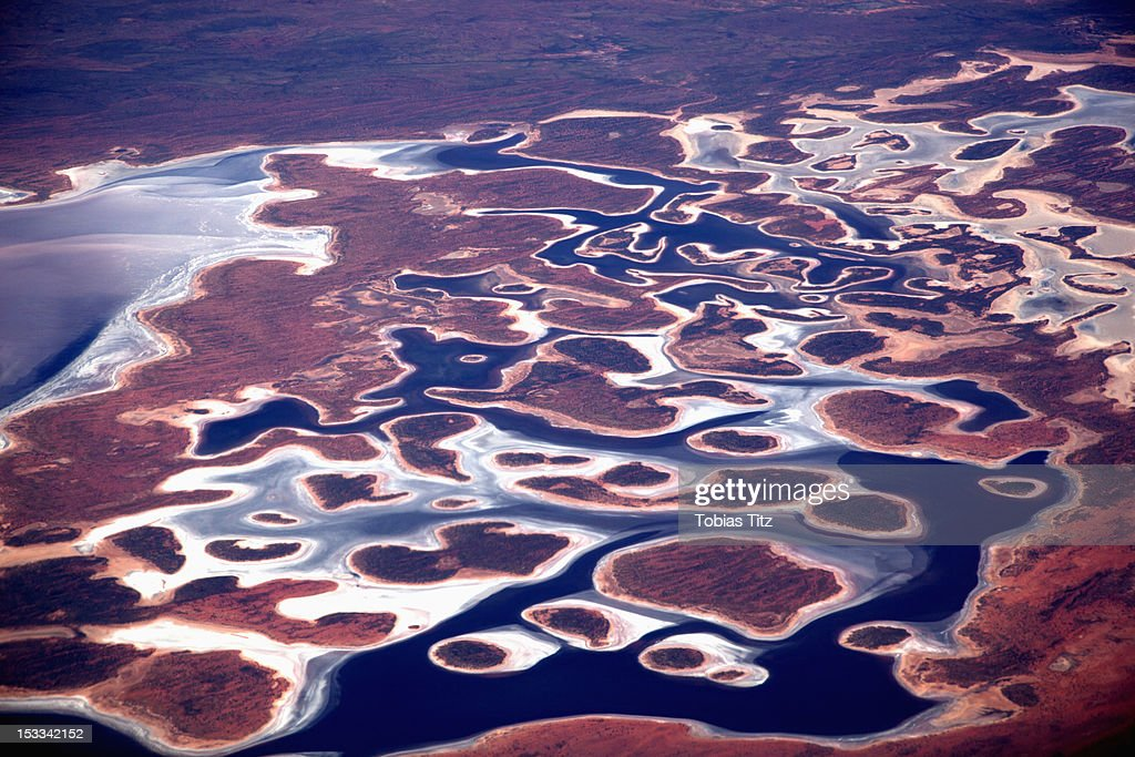 Aerial view of the Pilbara landscape : Stock-Foto