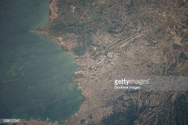 Aerial view of the Port-au-Prince area of Haiti.
