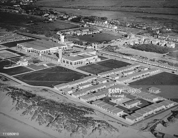 Aerial view of the Prestatyn Holiday Camp North Wales 10th July 1939 It is a selfcontained community of 1700 people In the picture can be seen the...