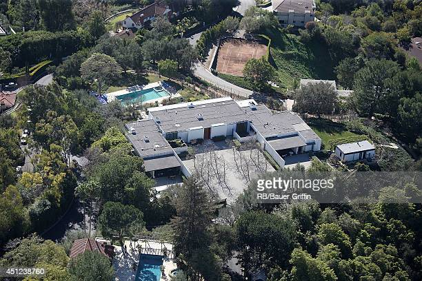 Aerial view of the property reported to be Jennifer Aniston's home on January 25 2012 in Los Angeles California