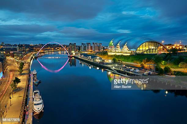 Aerial view of the redeveloped Gateshead Quayside