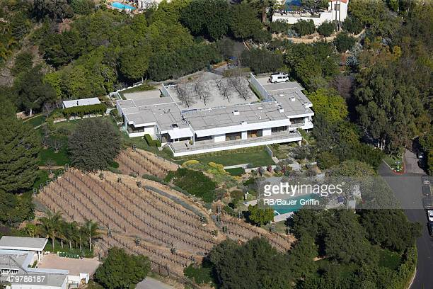 Aerial view of the reported house of Jennifer Aniston in BelAir on January 24 2012 in Los Angeles California