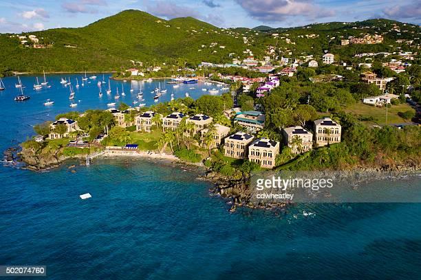 aerial view of the resort in Cruz Bay, St.John, US
