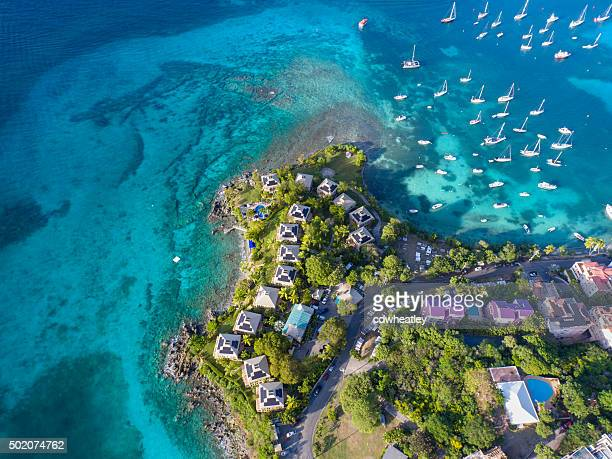 aerial view of the resort in Cruz Bay, St.John, USVI