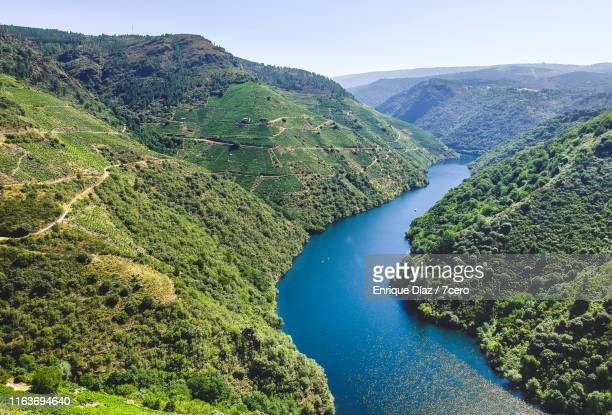aerial view of the ribeira sacra, spain - river stock pictures, royalty-free photos & images