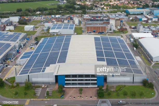 Aerial view of the Rolls-Royce site in Filton on July 02, 2020 in Bristol, United Kingdom. Many UK businesses are announcing job losses due to the...