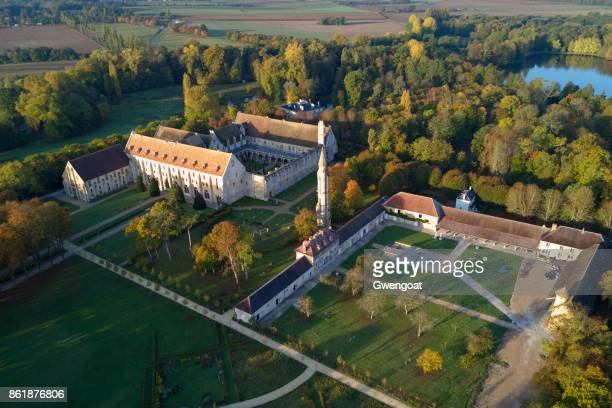 Aerial view of the Royaumont Abbey