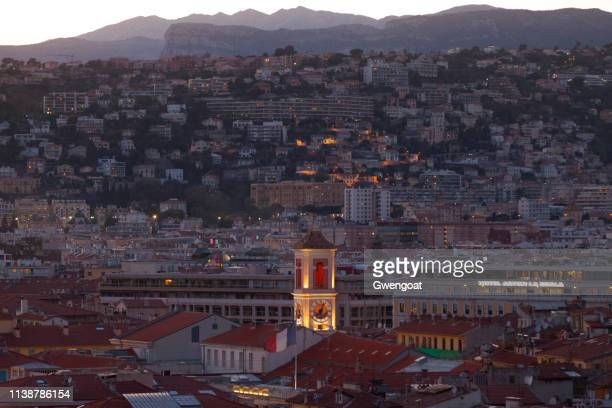 Aerial view of the Rusca Palace in Nice