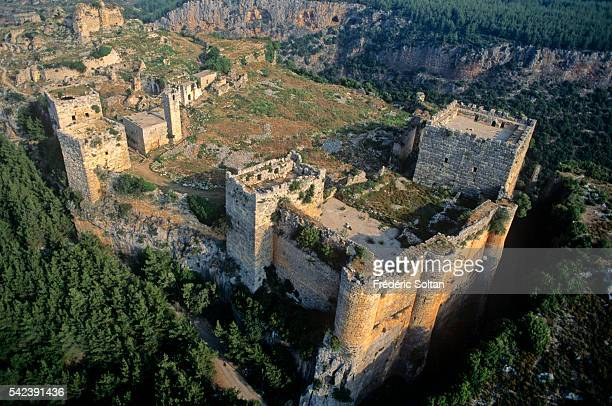 Aerial view of the Saladdin Castle | Location Latakia Province Syria