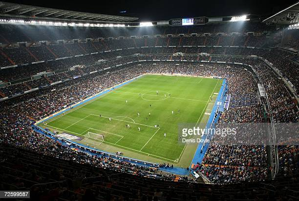 Aerial view of the Santiago Bernabeu stadium the Primera Liga match between Real Madrid and Racing Santander on November 18, 2006 in Madrid, Spain.