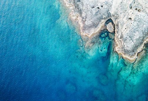 Aerial View of the Sea and Rock 1087517562