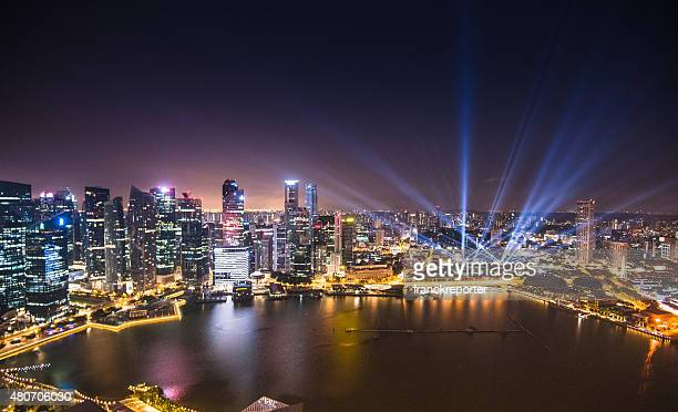Aerial view of the Singapore Skyline