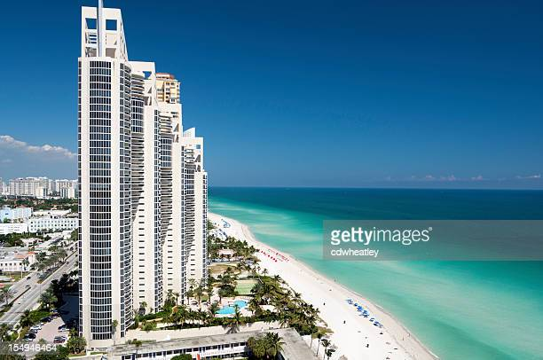 aerial view of the skyline in Miami, Florida