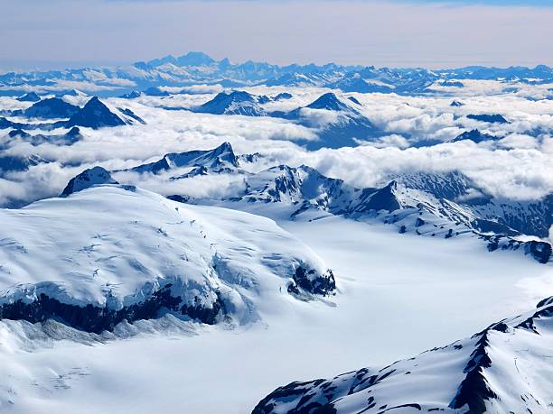 Aerial View Of The Southern Alps Of New Zealand With Mt Cook In The Background Wall Art