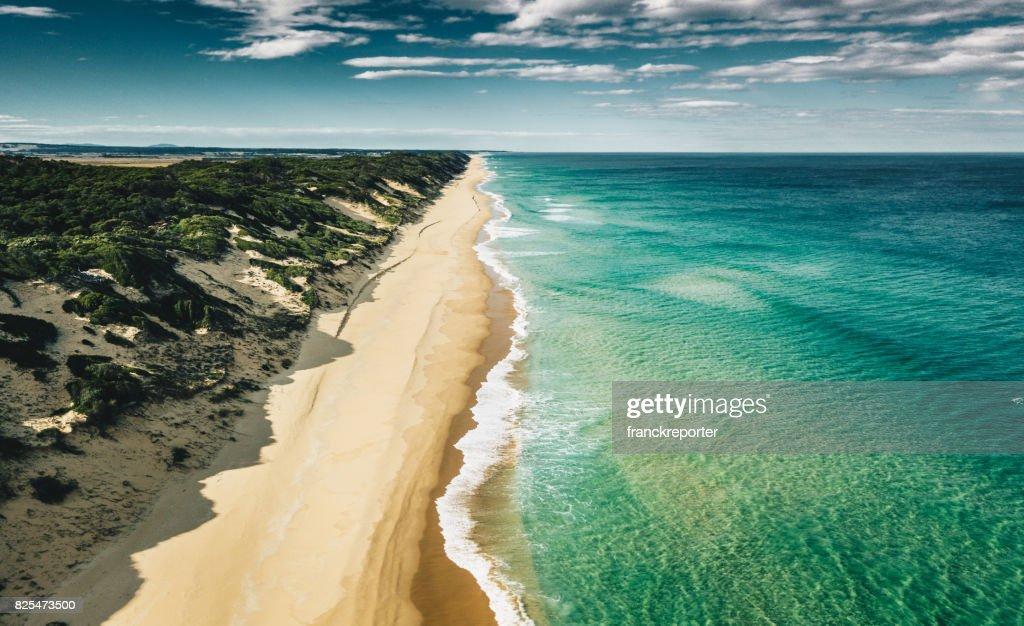 Luftbild von der australischen Südküste : Stock-Foto