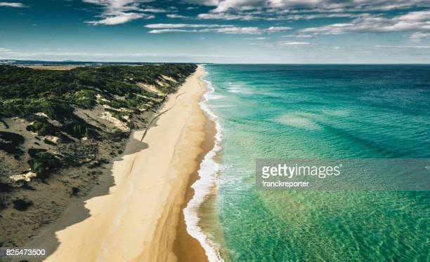 aerial view of the southern australian coastline - new south wales stock pictures, royalty-free photos & images
