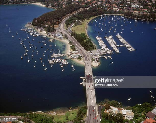 aerial view of the spit bridge & marinas, sydney, nsw