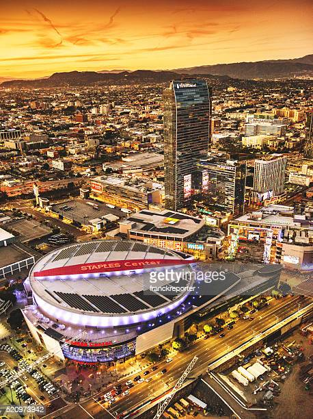 Aerial view of the Staples Center Arena