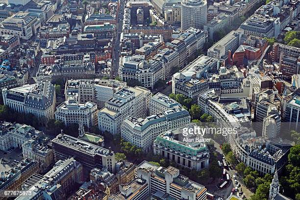 Aerial view of the Strand, London
