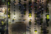 aerial view of  the suburb parking,LA