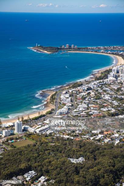 aerial view of the sunshine coast - mooloolaba - mooloolaba stock pictures, royalty-free photos & images