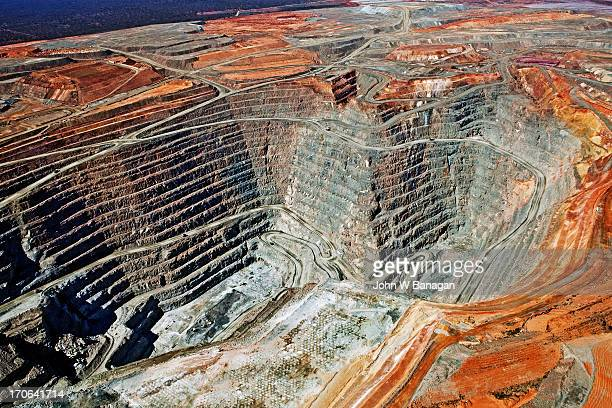 Aerial view of the Super Pit gold mine