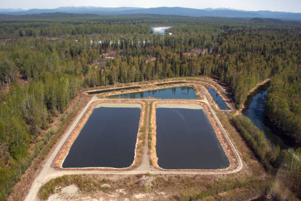 Aerial View of the Talkeetna Sewer Lagoon
