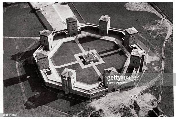 Aerial view of the Tannenberg Memorial near Olsztynek Poland c1931 The memorial commemorated the German soldiers killed during the victory over the...