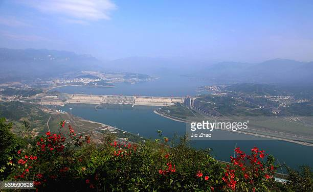 Aerial view of the Three Gorges dam in Yichang Hubei province central China 21th April 2015China's top economic planner will cut the prices of...