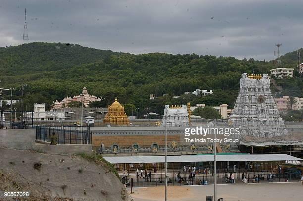 Aerial View of the Tirupati Temple in Andhra Pradesh India