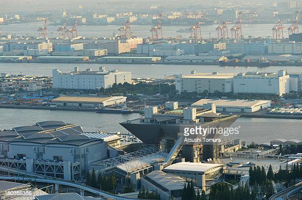 Aerial view of the Tokyo Big Sight will host the IBC and MPC during the Tokyo 2020 Olympic Games on September 12 2013 in Tokyo Japan Tokyo was...