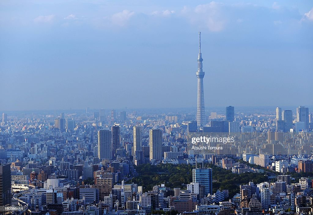 Aerial Views Of Tokyo, 2020 Summer Olympic Games Host City : News Photo