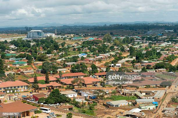 Aerial view of the town of Mzuzu in Malawi