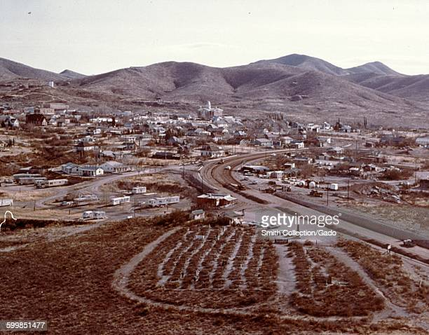 Aerial view of the town of Tombstone, Arizona, 1966.
