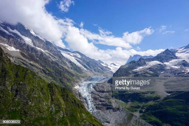 Aerial view of the Upper Grindelwald glacier