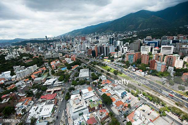 Aerial view of the Venezuelan capital Caracas taken on February 10 2012 AFP PHOTO/Leo RAMIREZ